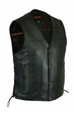 Men's Ten Pocket Utility Biker Chopper Motorcycle Vest by Daniel Smart DS100