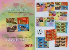 Rumänien 2017 NEU Gefährdete Arten,Endangered Species,ONU,Satz,Zf,KB,Block,FDC