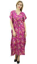cordon de serrage maxi satin longue des femmes Bimba floral robe rose kimono