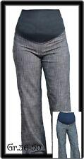 ~Umstandshose  DENIM Jeans ~ schwarztöne~Gr.36-58 auch blau,weiß,beige Baumwolle