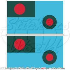 BANGLADESCH Luftwaffe Flagge AUS BANGLADESCH Fahne 75mm Sticker Aufkleber x2