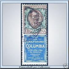1924 Regno Pubbicitari n. 19 Columbia Lire 1 Usato