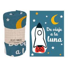 MANTA POLAR CORALINA CON FRASES MENSAJE BAGGY 120x160 Blanket Couverture Coperta