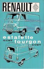 Renault 4 6cwt Van & Estafette 1964-65 UK Market Sales Brochure