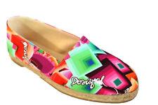 Desigual Beach Plana 11 36-41 3.5-7 RRP�89 Casual Cotton Canvas Deck Shoes