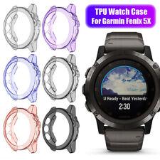 for Garmin Fenix 5X / 5X plus TPU Watch Case Protective Cover Screen Protectors