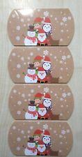 4x small Christmas design pillow packs gift box presents etc 8.8x8x3cm UK SELLER