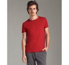 $59 EDUN masai organic cotton embroidered crewneck t-shirt - Red