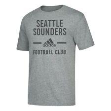 "Seattle Sounders FC MLS Adidas Men's ""Simply Put"" Grey Tri-Blend T-Shirt"