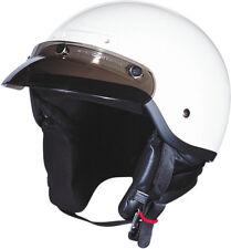 Z1R Adult White Drifter Half Motorcycle Helmet 2017