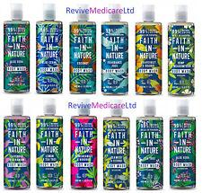 Faith In Nature Body Wash (Shower Gel) Range 400ml *Natural Skin Care Body Wash*