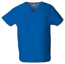 Dickies Scrubs 83706 V Neck Unisex Scrub Top Dickies EDS Royal Blue