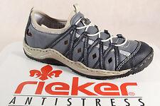 Rieker L0567 Slipper Sneakers Halbschuhe Sportschuhe Ballerina blau NEU