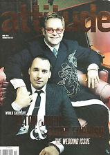 ATTITUDE Magazine #140 ELTON JOHN & DAVID FURNISH WEDDING ISSUE Anastacia @EXCLT
