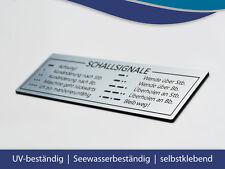 """Schild """"Schallsignale"""" für Boot und Yacht - 155 x 50 mm"""