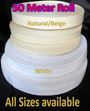 Cotton Bunting Binding Apron Herringbone Twill Webbing Tape Sew Strap 50MROLL