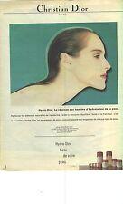 PUBLICITE ADVERTISING 1983  DIOR produits de beauté cosmétiques soins de la peau