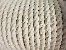 Baumwollseil gedreht 10mm Meterware 10-100m Bondageseil,Natur-Baumwolle,Seil,
