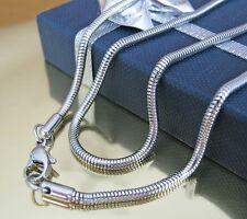 Edelstahl Schlangenkette rund 2 - 2,5 mm 40-45-50-60-70 cm Halskette Anhänger