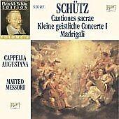 SCHTZ: CANTIONES SACRAE; KLEINE GEISTLICHE CONCERTE I; MADRIGALI [BOX SET] USED