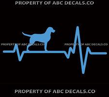 HEART BEAT LINE DOG CHESAPEAKE BAY RETRIEVER Adoption Rescue CAR VINYL DECAL