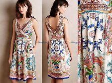NEW Anthropologie Tied Acionna Silk Dress by Collette Dinnigan sz 2P Gorgeous!