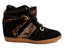 Serafini scarpe sneakers alte pelle shoes Donna Zeppa interna Women 2182 black