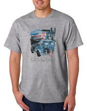 USA Made Bayside T-shirt Christian Firefighter Jesus Ultimate Sacrifice