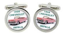 Chevy, 1958 Chevrolet Impala Car Cufflinks in Chrome Box