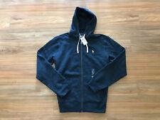 Polo Ralph Lauren Classic Full-Zip Fleece Hooded Sweatshirt Hoodie Heather Navy