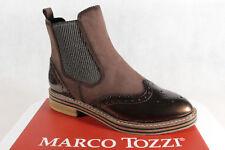 Marco Tozzi Stiefelette, Stiefel, Boots, Schlupfstiefel, braun, 25812 NEU