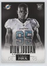 2013 Panini Prizm HRX Rookies 10 Dion Jordan Miami Dolphins Rookie Football Card