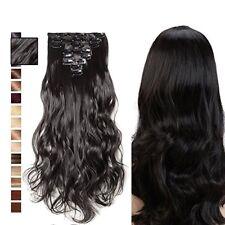 Clip-In Hair Extensions 8 Tressen Set Lang Haarverlängerung Luxury Kunsthaar DE