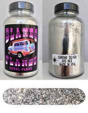 Blake's Flakes Metal Flake .015 Chrome Silver Hot Rod Custom Paint Job