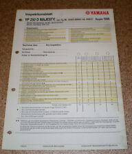 Inspektionsblatt Yamaha YP 250 D Majesty Typ SG021 Baujahr 1998