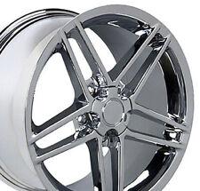 17x9.5 Chrome C6 Corvette Z06 Style Wheels Set of 4 Rims Fit Camaro Firebird CP
