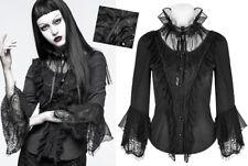 Chemise gothique lolita baroque collerette volant dentelle jabot corset Punkrave