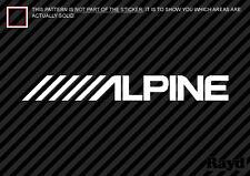 (2x) ALPINE Sticker Decal Die Cut Self Adhesive vinyl