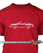 Porsche 911 Convertible Cabriolet T-Shirt for Men - Multiple Colors and Sizes