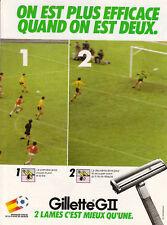 Publicité ancienne lames de rasoir Gillette 1982