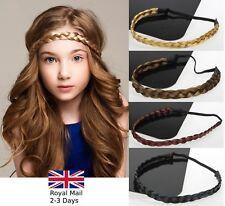 Damas Niñas Trenzada Trenza de Cabello Sintético Trenzado Diadema Elástica Hairband