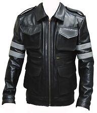 Resident Evil 6 Jeu Véritable Noir Cow Hide leather jacket