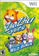 Zhu Zhu Pets: Featuring the Wild Bunch (Nintendo Wii, 2010) NEW