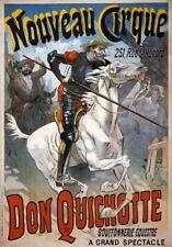 84278 Vintage Don Quichotte Quixote Horse Circus Decor WALL PRINT POSTER CA