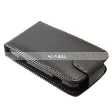 COVER FLIP CASE NOKIA X3 C3-05 N8 E71 6700 ... slim vertical eco-cuir noir