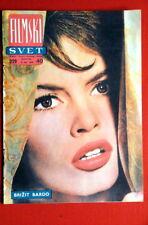 BRIGITTE BARDOT ON COVER #2 1959 RARE EXYU MAGAZINE