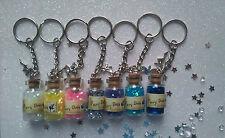 Stunning Fantasy, Fairy Dust Bottle, Keyring , Fairy charm, Gift, FREE P & P