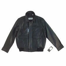 C516 NuBorn Leather, Men's Bomber Jacket, Vintage, Short Jacket, Black