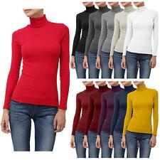 NE PEOPLE Womens Light Weight Basic Long Sleeve Turtle Neck Ribbed Shirt NEWT88
