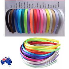 Plain satin headband alice band hairband resin 10mm Ribbon Hoop Hair Band